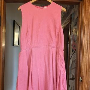 Adorable Pink Gap Fit and Flare Dress - Size 14